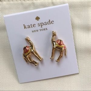 Kate Spade GoldTone Spice Things Up Camel Earrings